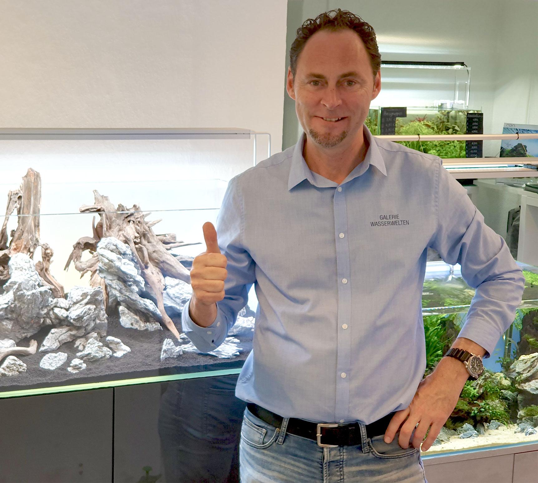 Inhaber Oliver Lindemann Aquaristik Galerie Wasserwelten